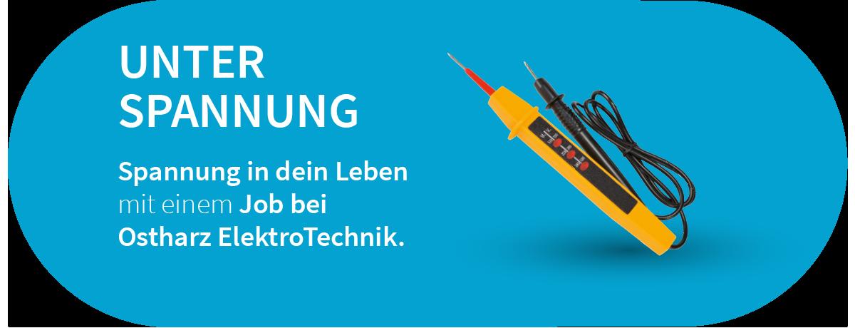 Mit der richtigen Drehung  zum Erfolg. Werde Teil unseres  Teams mit einem Job bei  Ostharz ElektroTechnik.